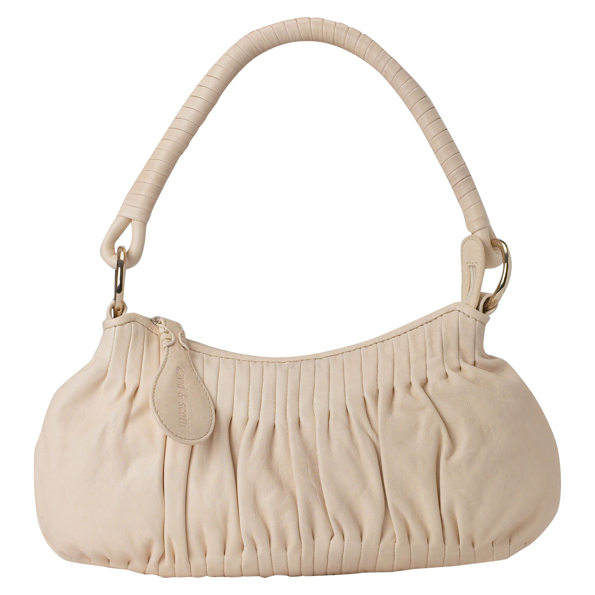 Nu Tucks small leather shoulder hobo bag