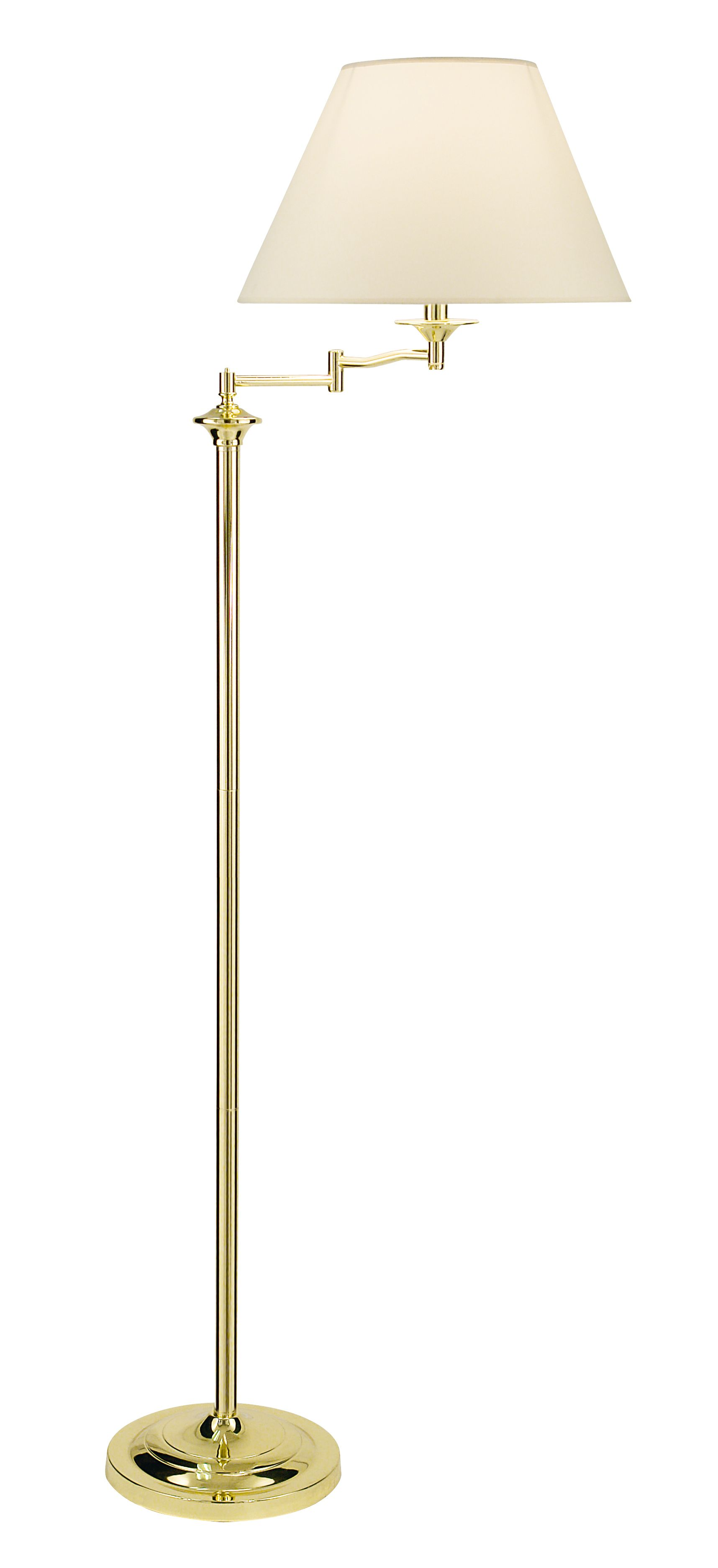 House of fraser alex swing arm floor lamp polished brass for Buy floor lamp online