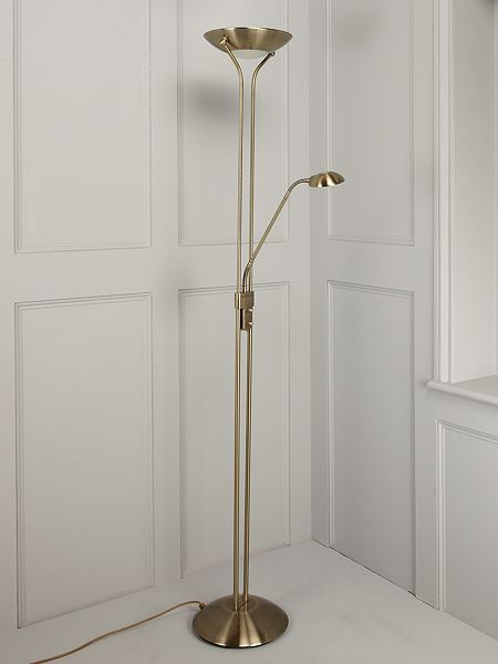 Linea montana uplighter floor lamp antique brass house for Montana floor lamp satin brass