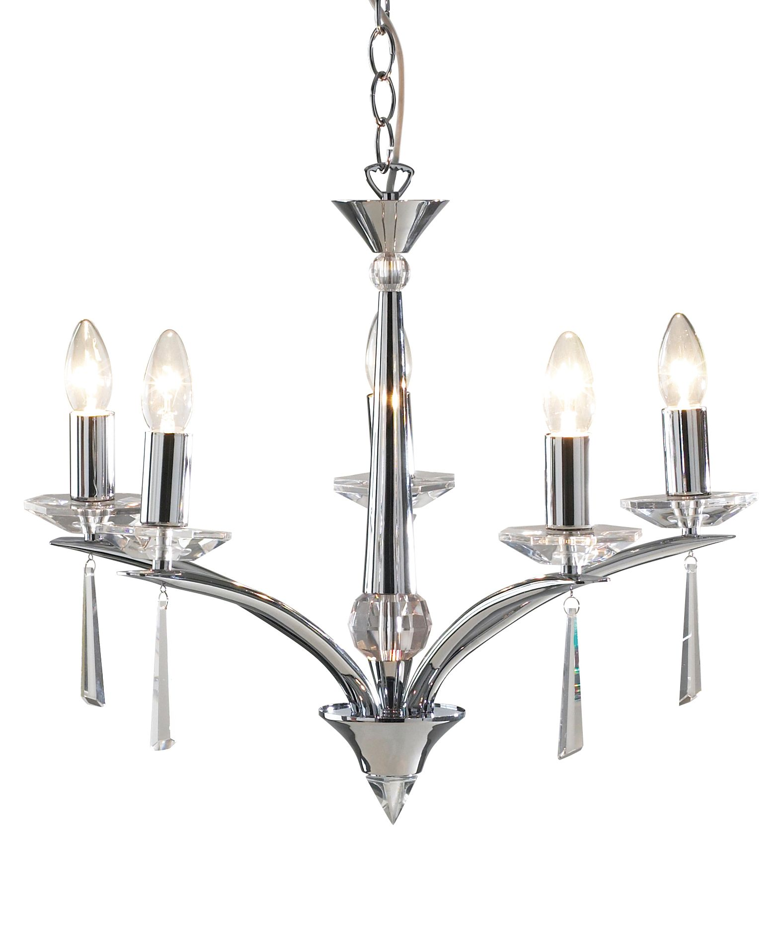 Hyperion five arm ceiling light by House of Fraser