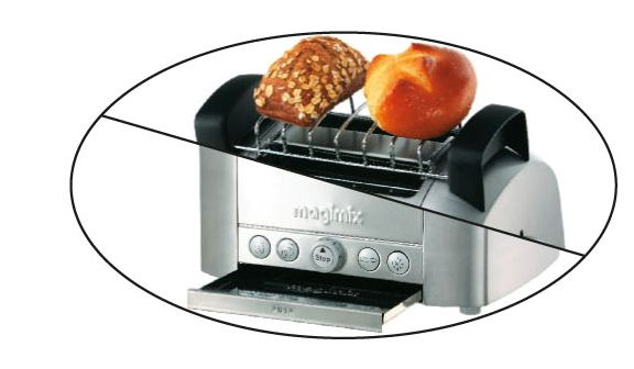 11516 2 slice professional brushed toaster