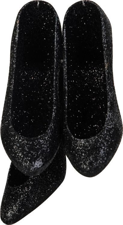 Linea Deco set of 3 black glitter shoes