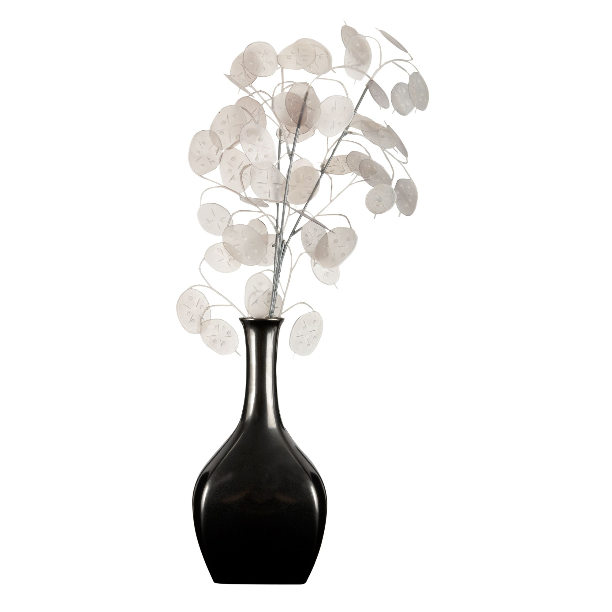 Honesty in pewter vase