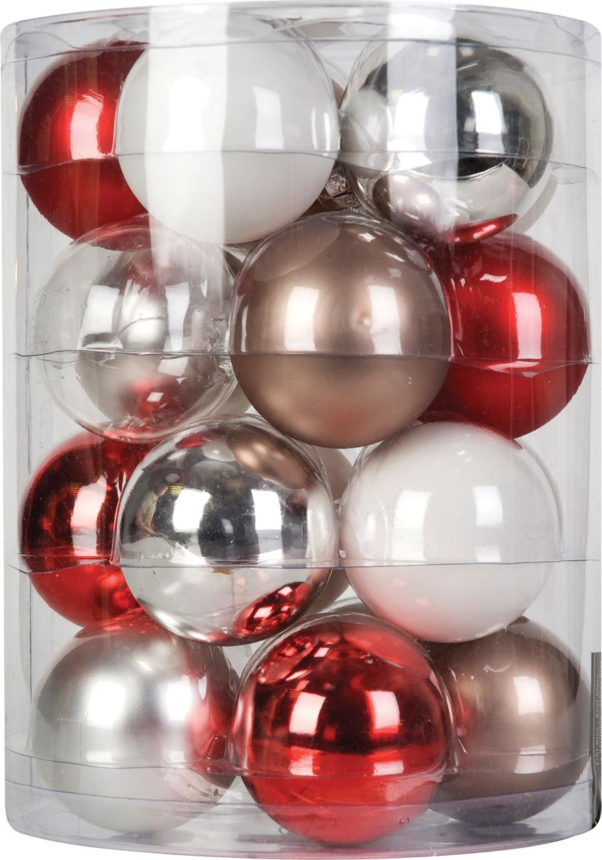Kraftwork set of 20 mixed baubles