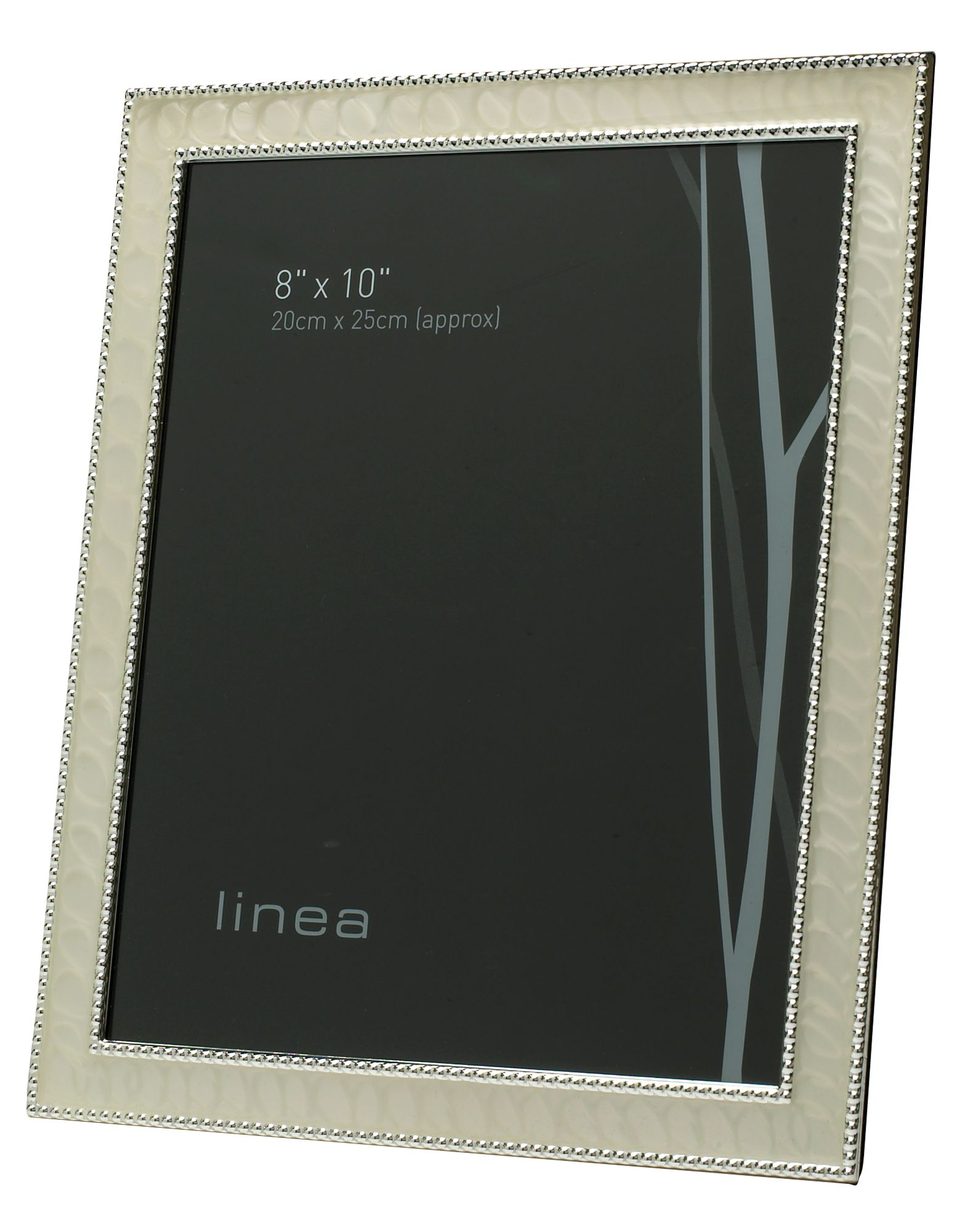 Image of Linea 8 x 10 beaded enamel photo frame