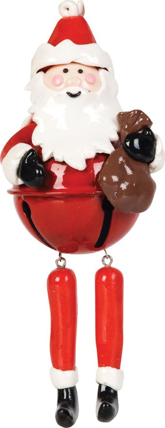 Santa bell with dangly legs