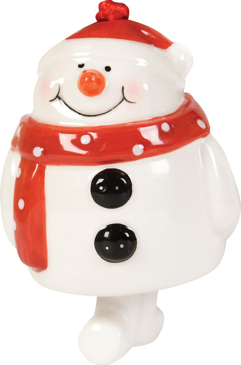 Linea Red ceramic snowman product image