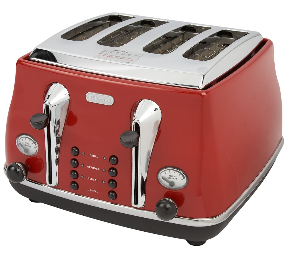 CTO4003 Icona 4-Slice toaster red