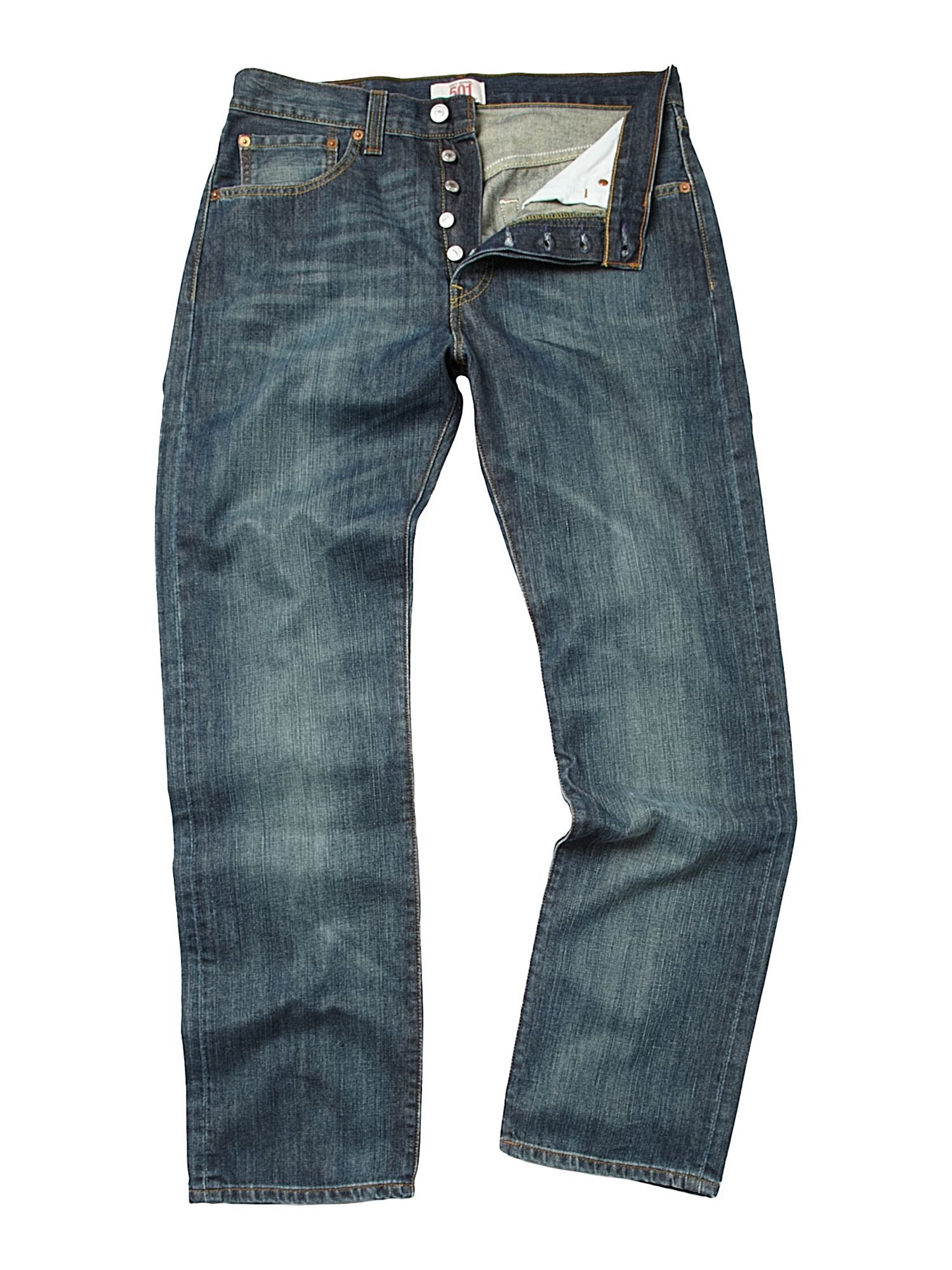 501 Straight fit washed out jeans