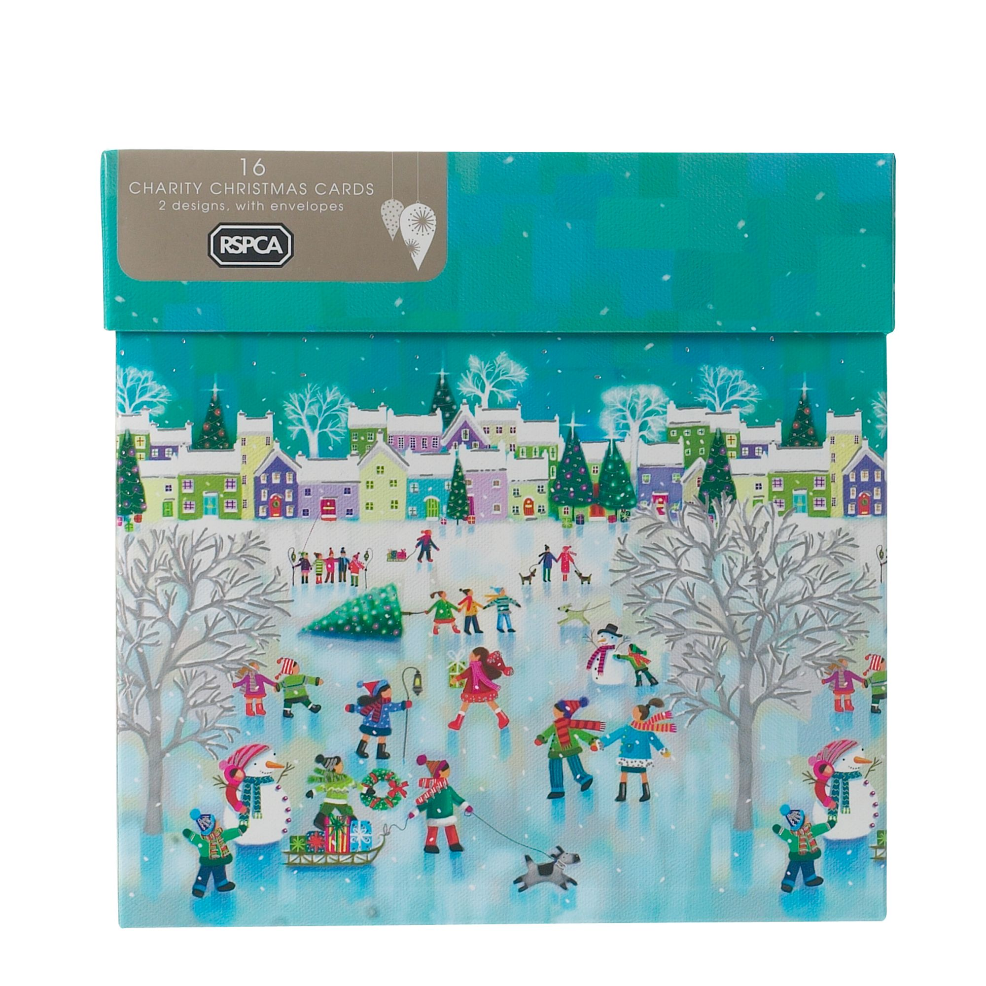House of Fraser Ilustrated town Christmas cards