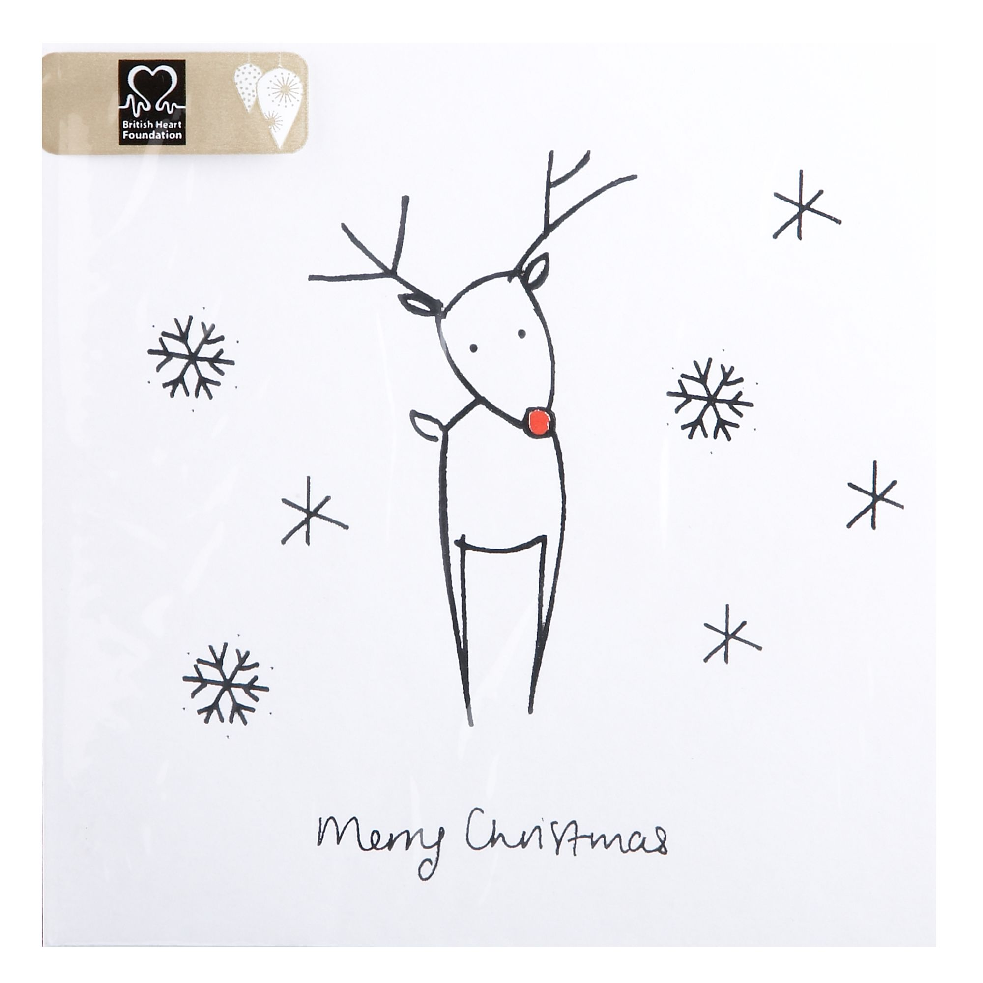 House of Fraser Silver reindeer and robin Christmas cards