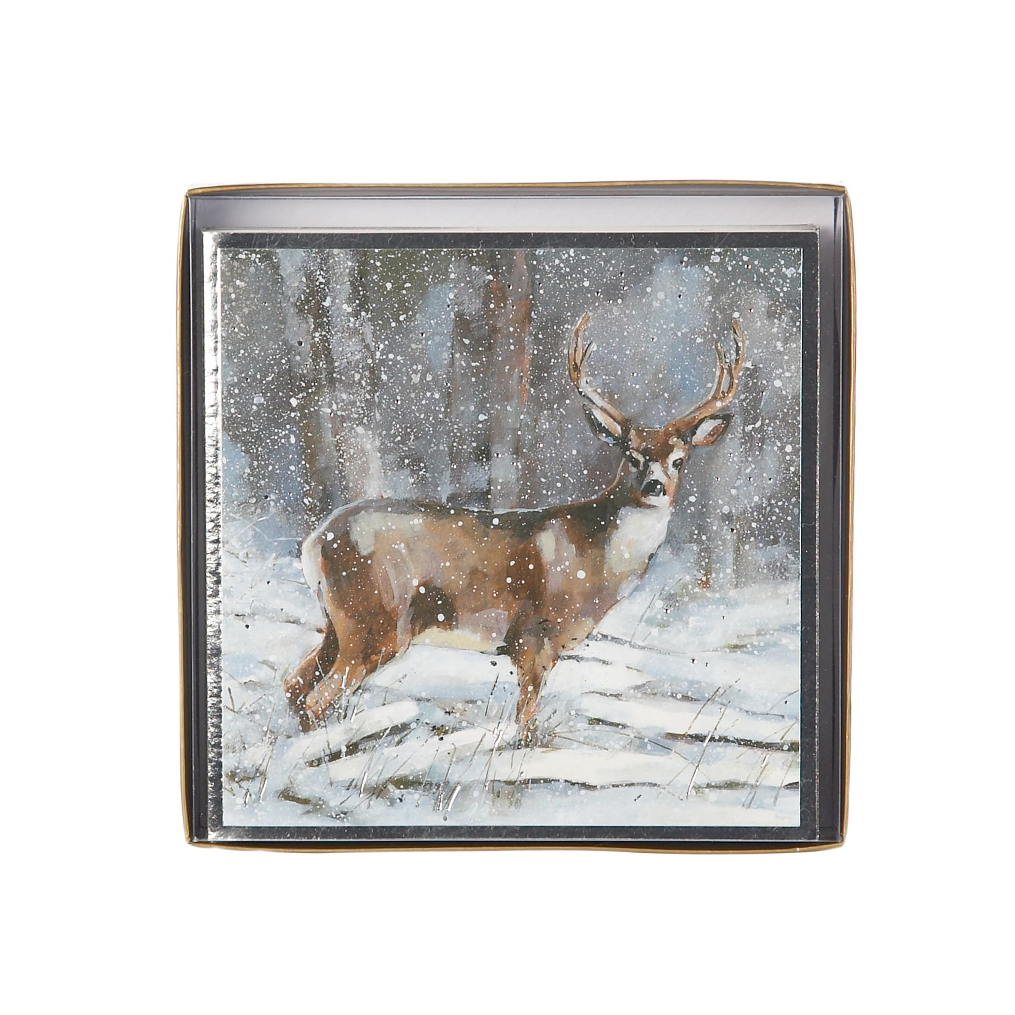 Ling Deer in snow Christmas cards