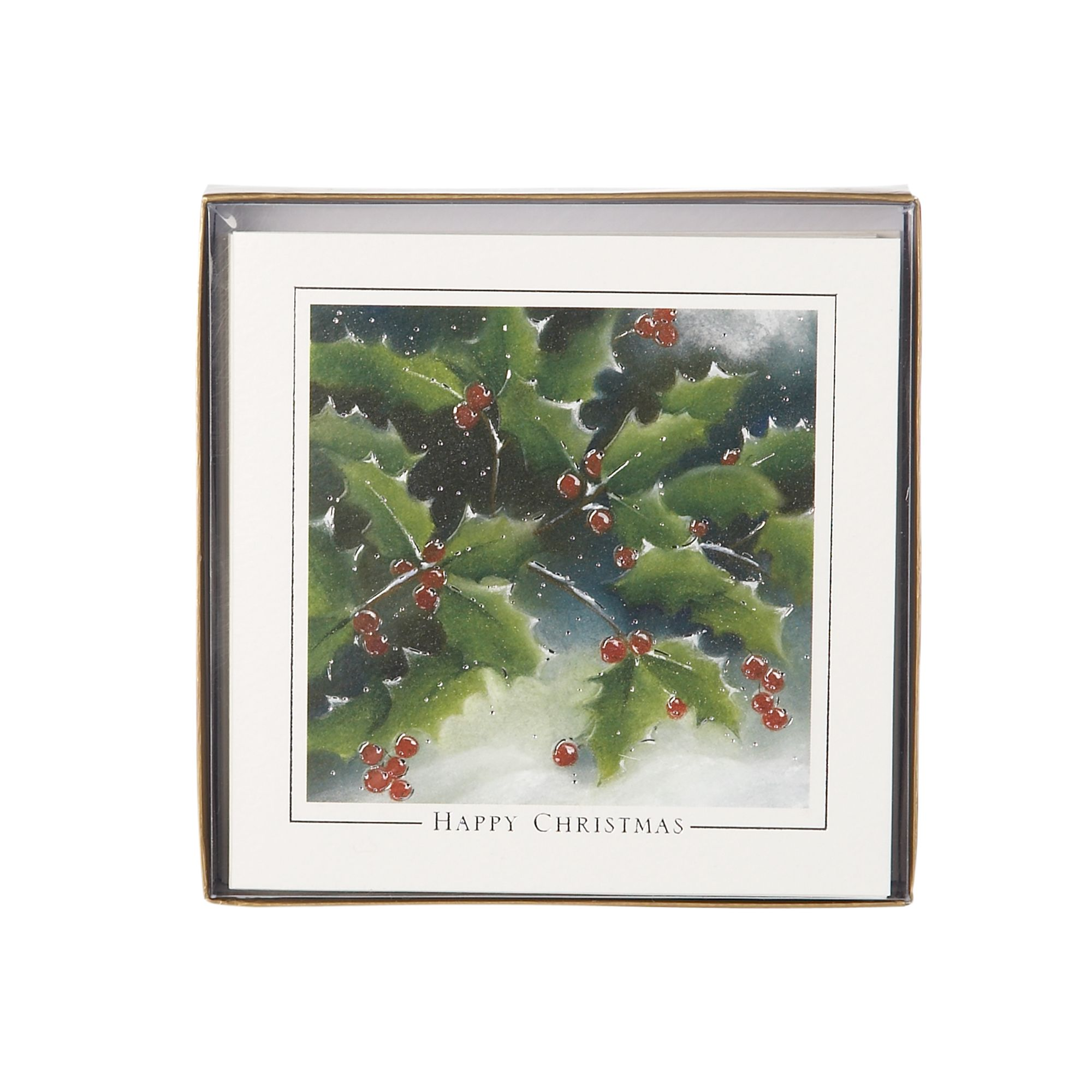 Ling Illustrative holly Christmas cards
