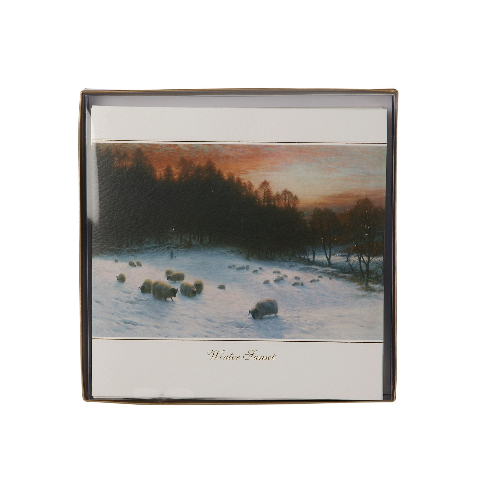 Linea Ling Winter sunset Christmas cards