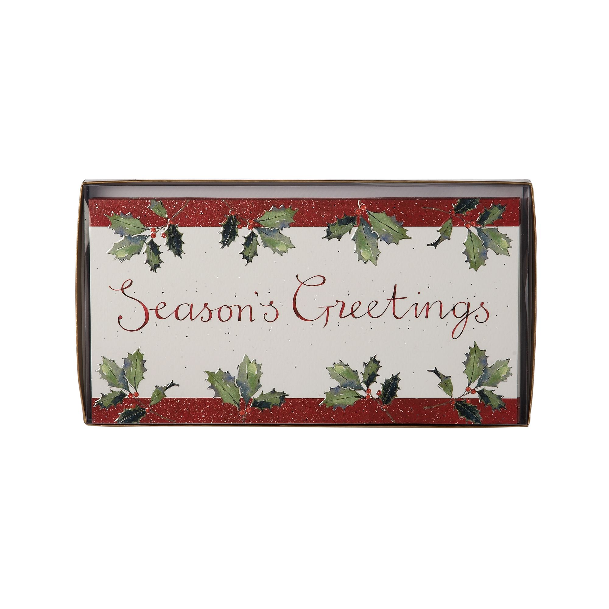 Ling Holly seasons greeting Christmas cards