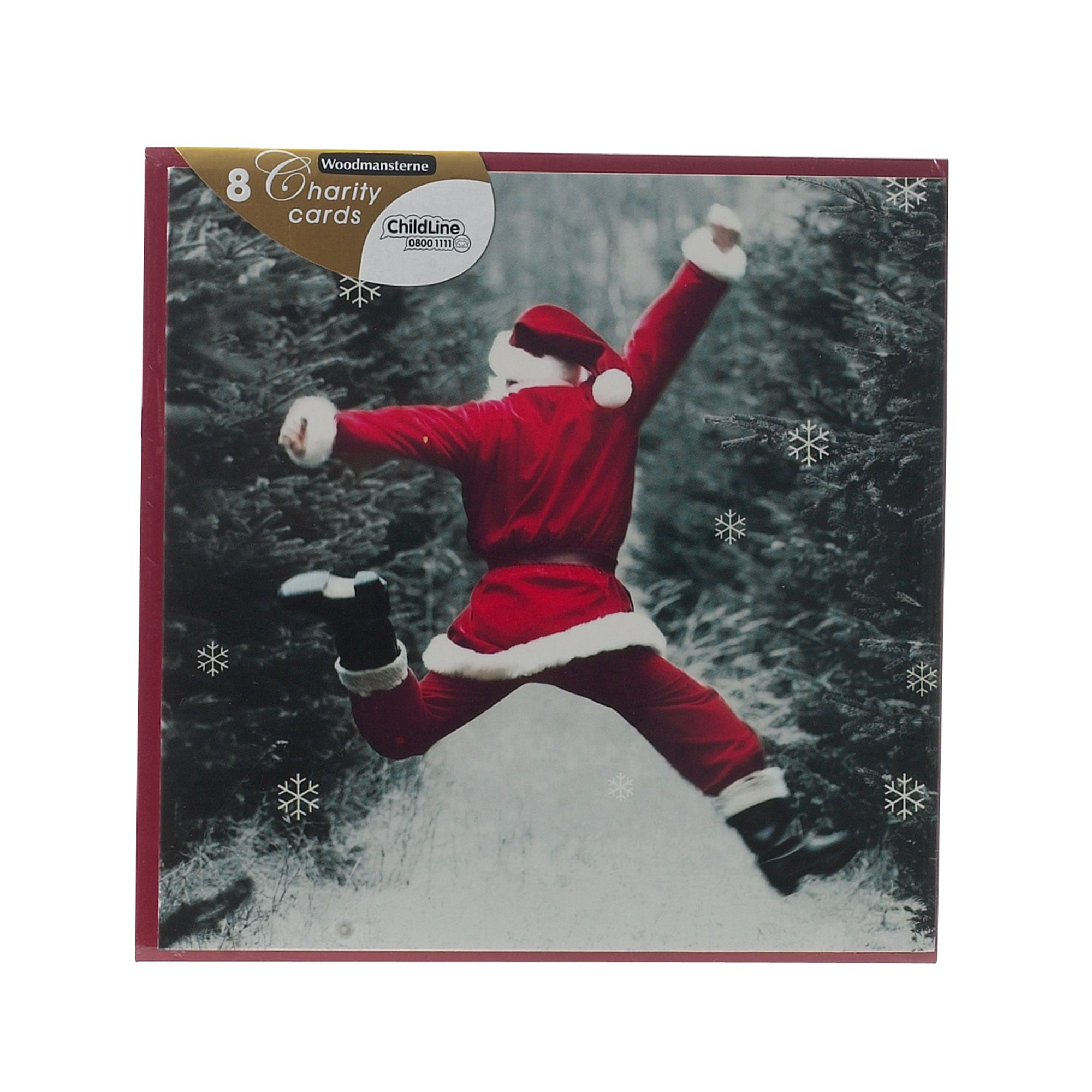 Woodmansterne Leaping santa Christmas cards