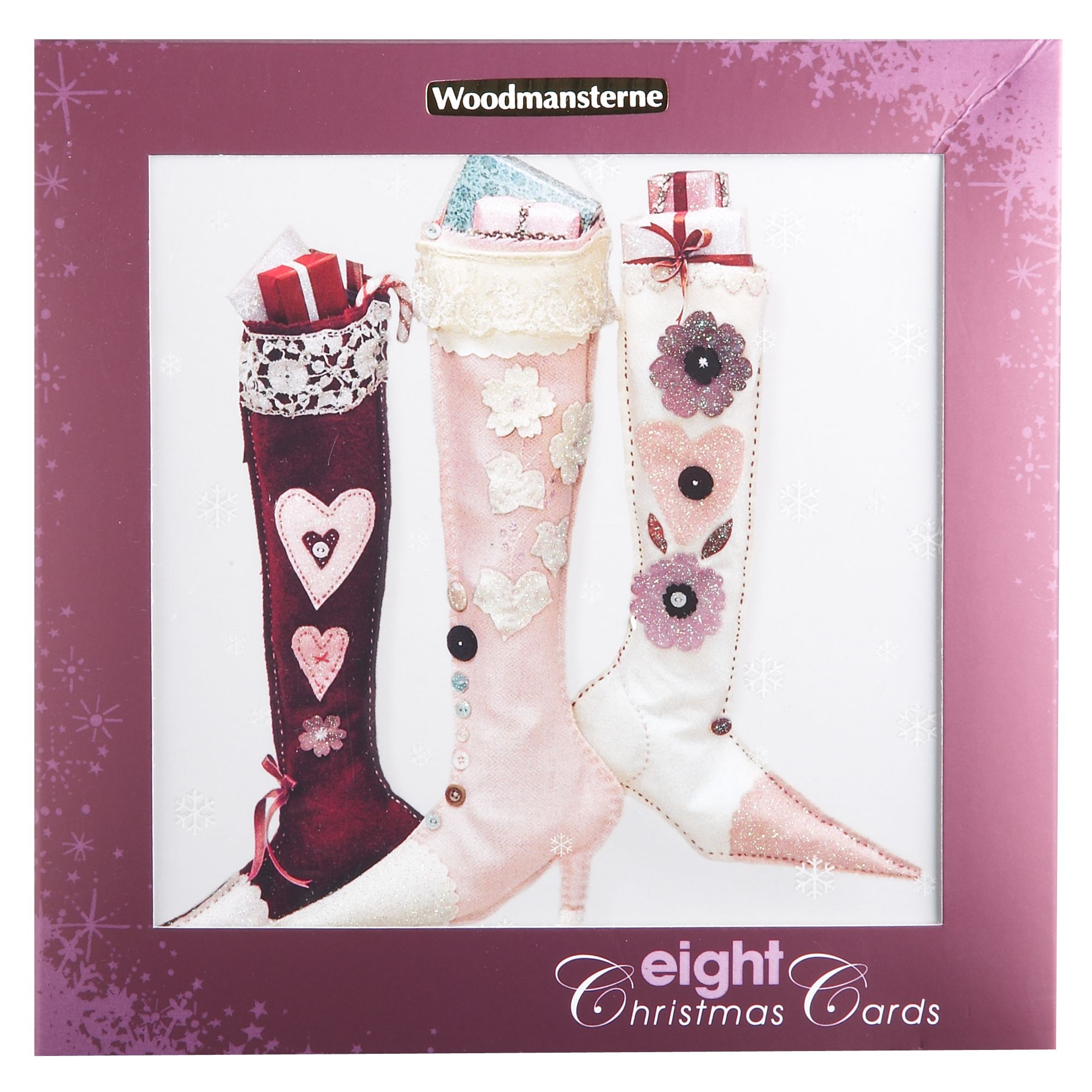 Woodmansterne Luxury box boots design Christmas cards