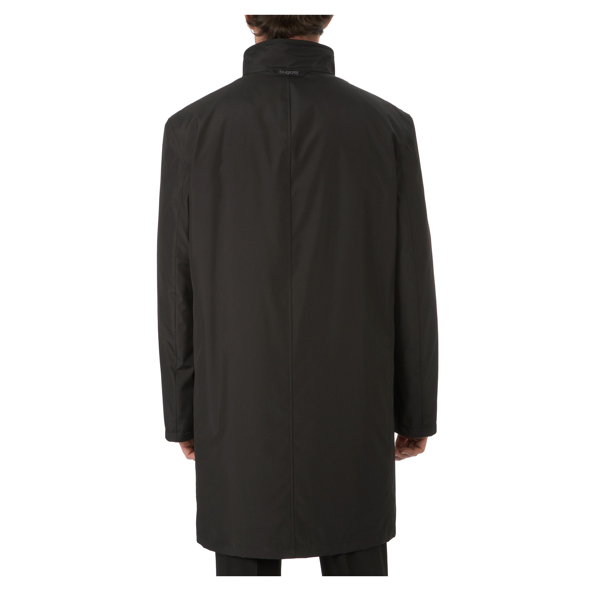 Funnel neck overcoat