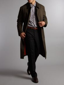 Bugatti Long length trench coat  with detachable collar