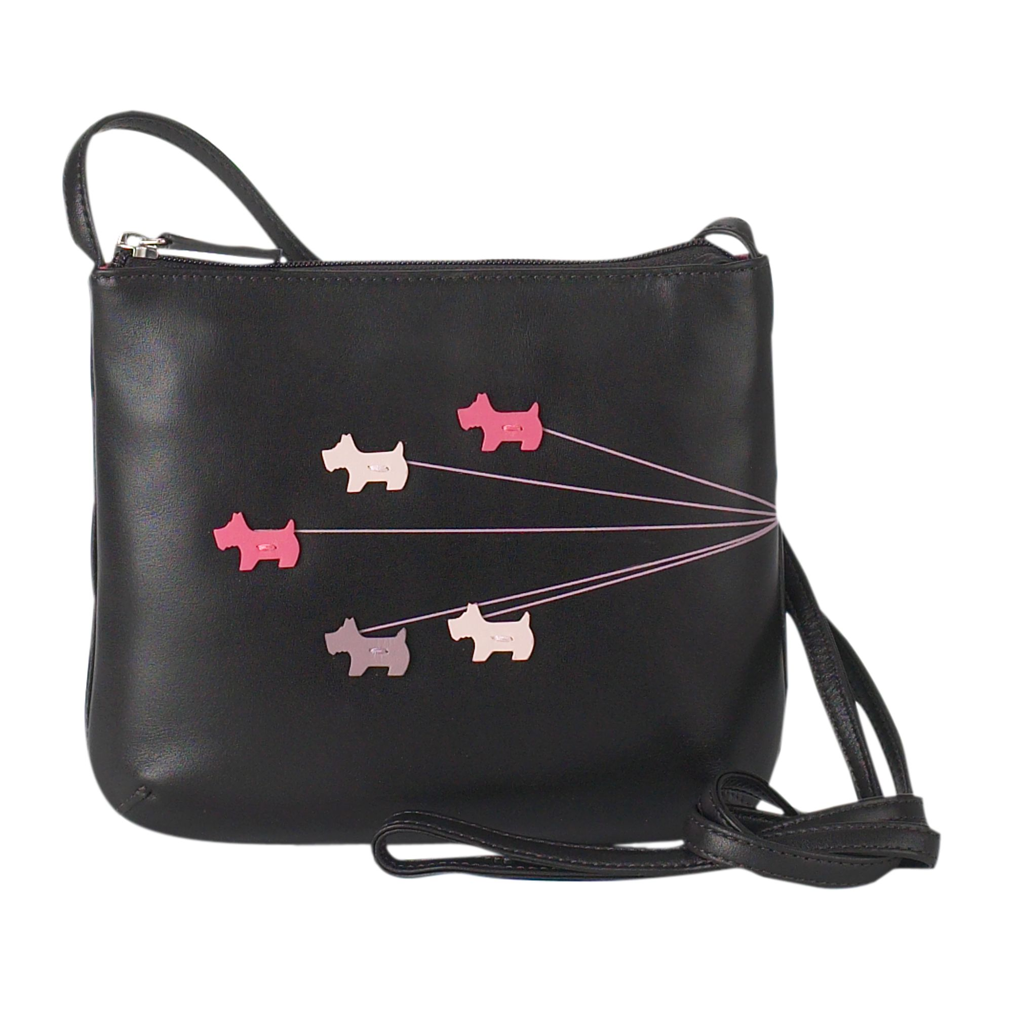 Walkies medium leather crossbody bag