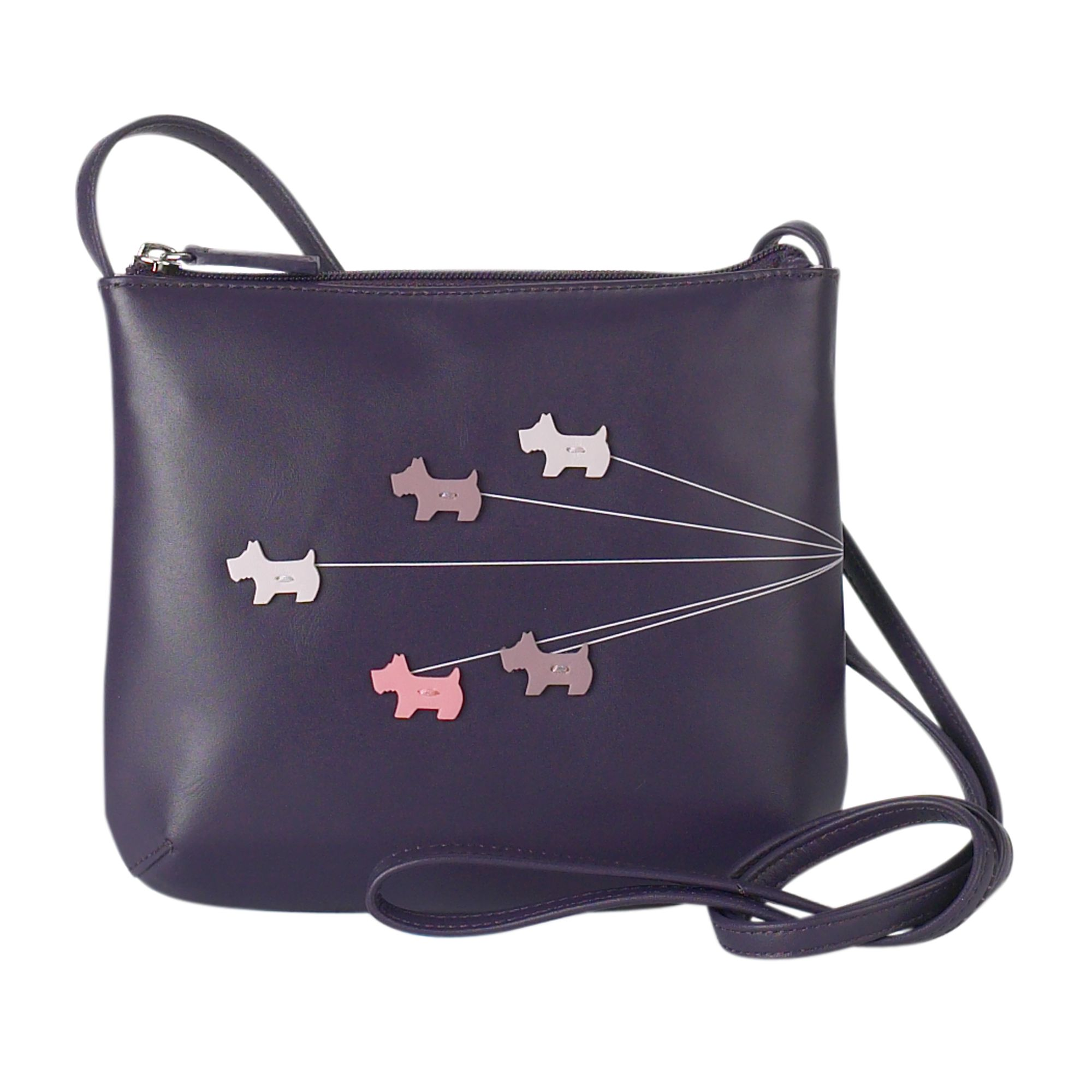 Walkies medium leather cross body bag