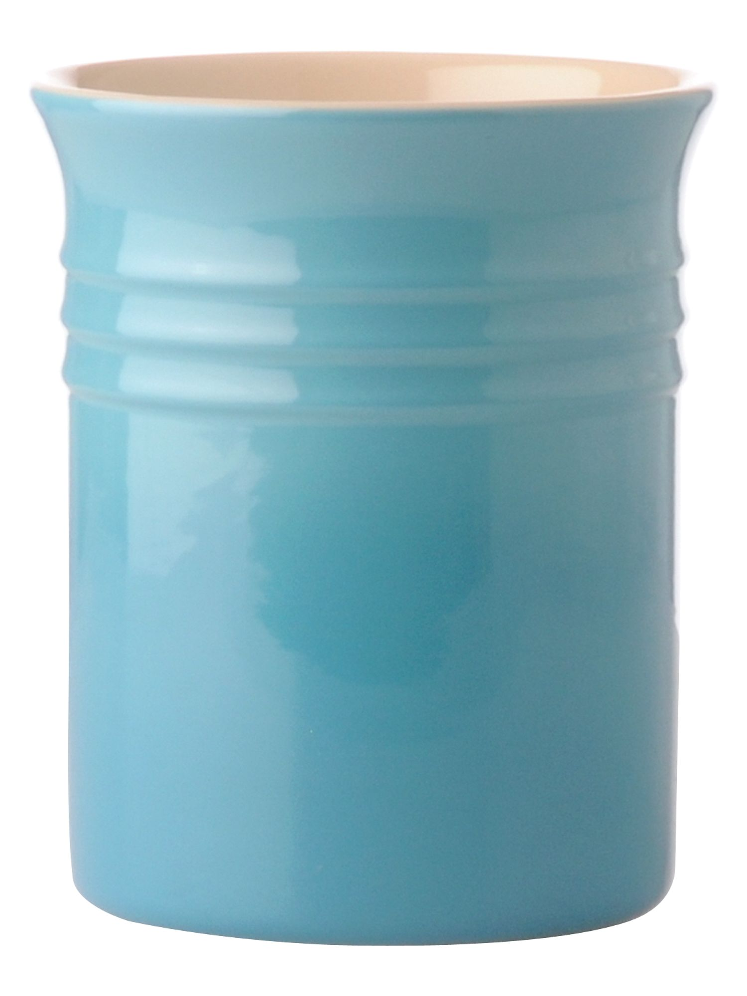 teal small utensil jar