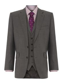 New & Lingwood St James sharkskin suit jacket
