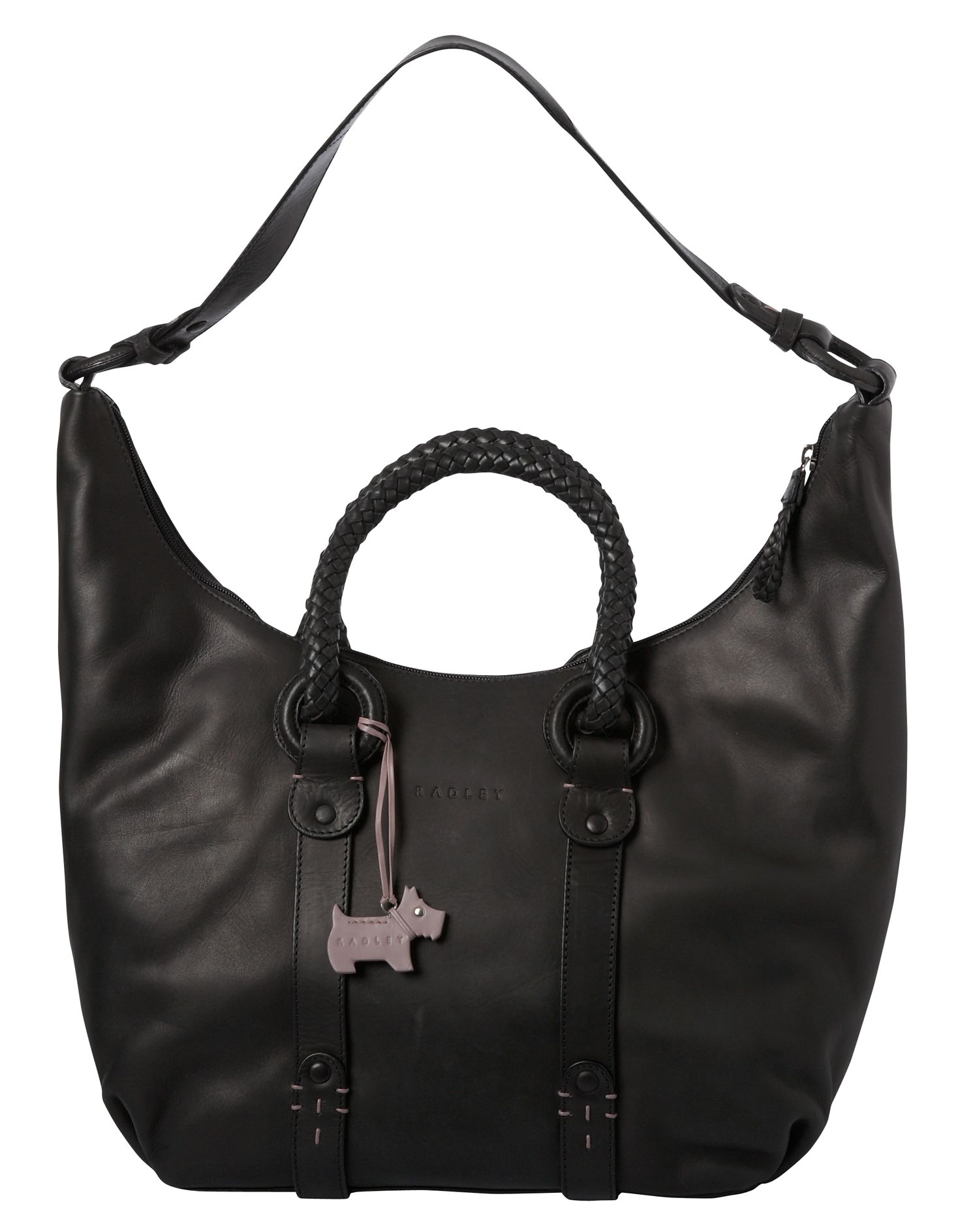 Poppy large leather shoulder hobo bag