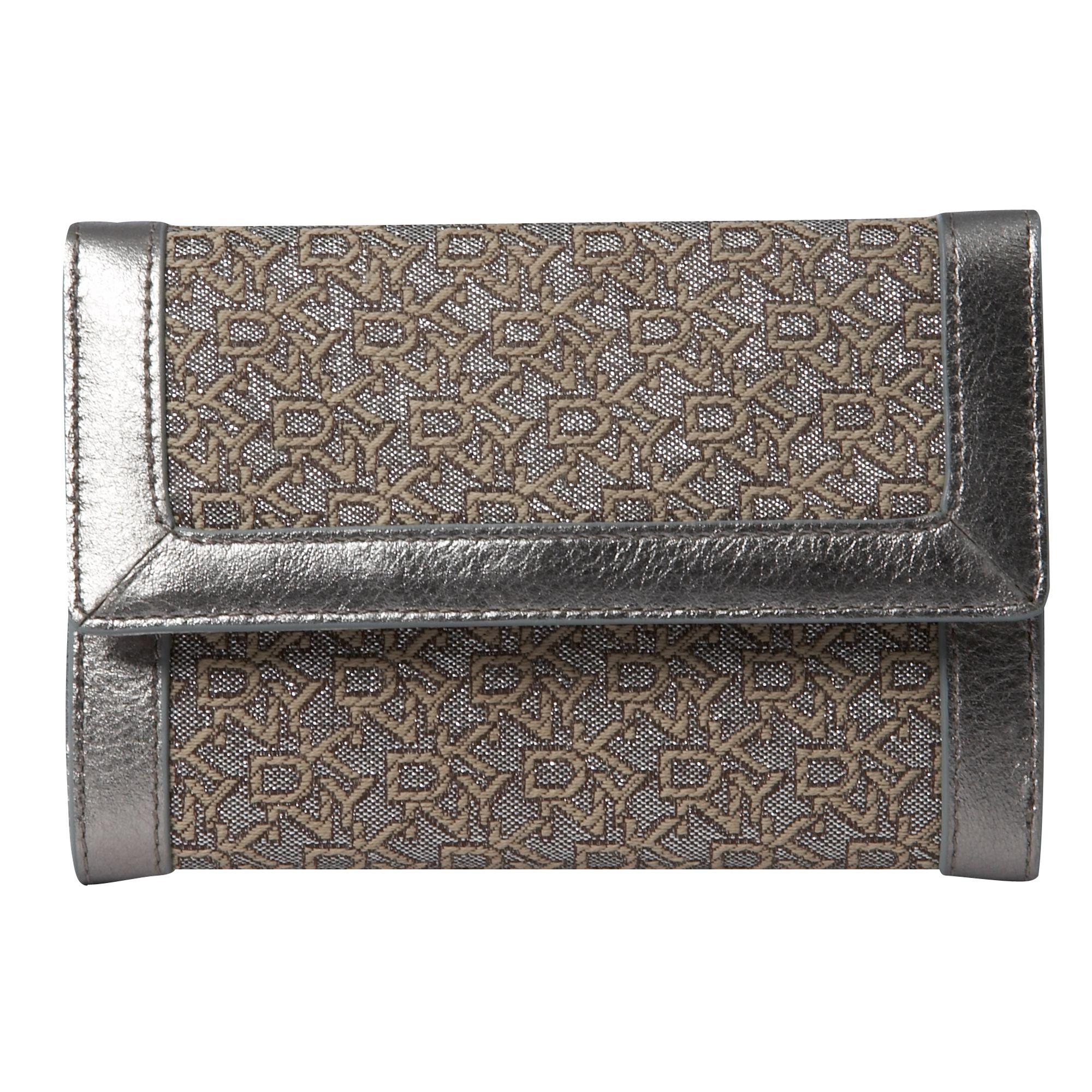 DKNY Town & Country metallic nylon flap-over purse product image