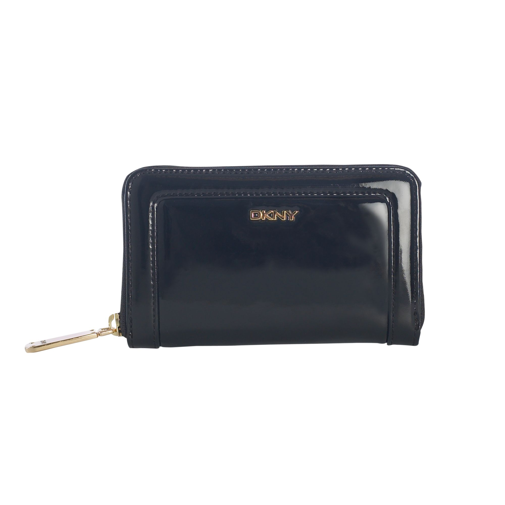 DKNY Active Active medium patent pu zip-round