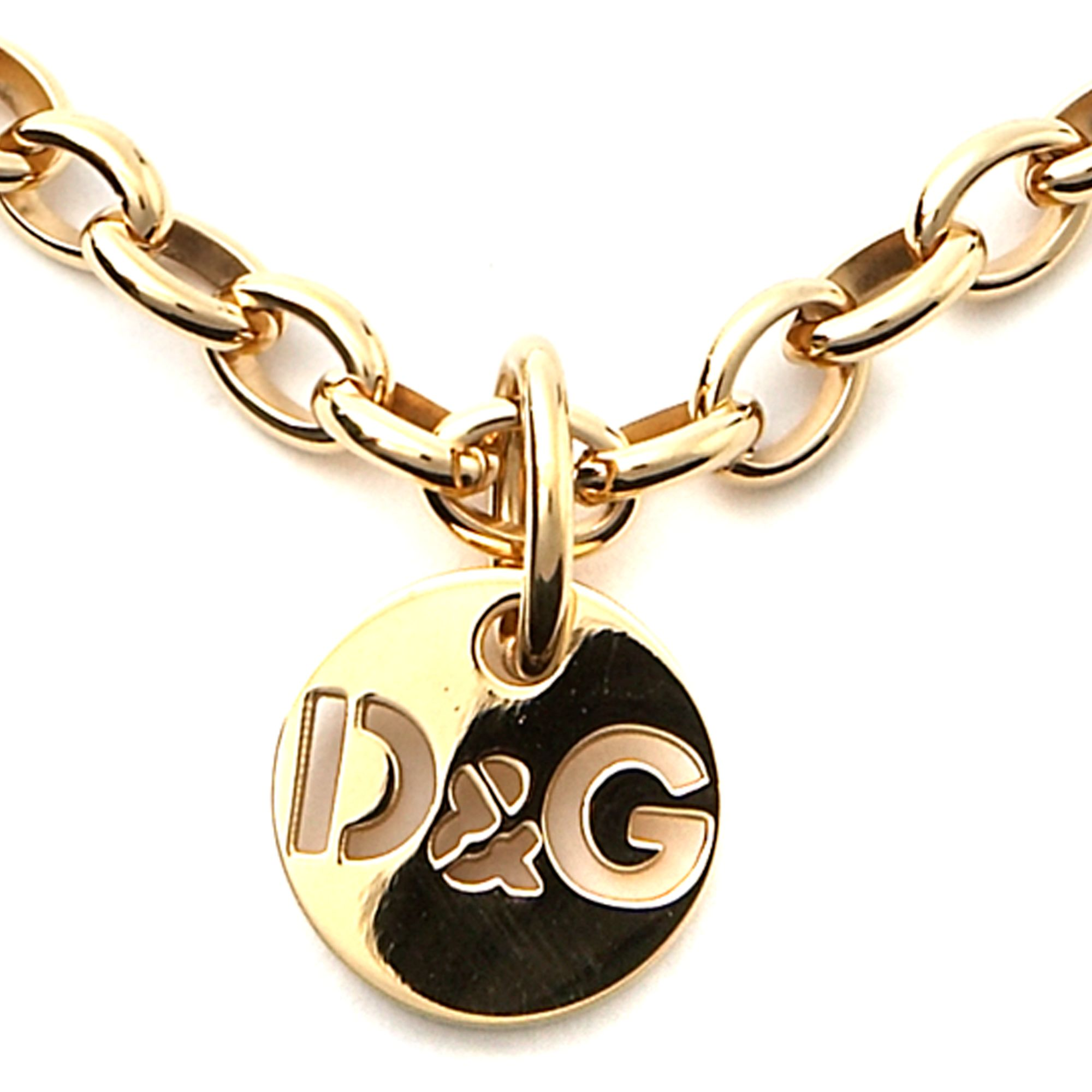 Necklaces dg idg long metal chain logo necklace