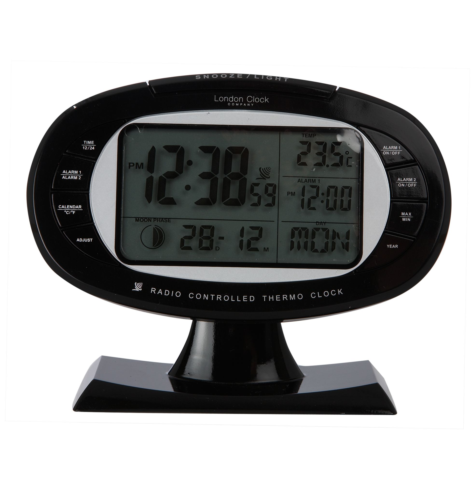 london clock tv screen style alarm clock review compare prices buy online. Black Bedroom Furniture Sets. Home Design Ideas