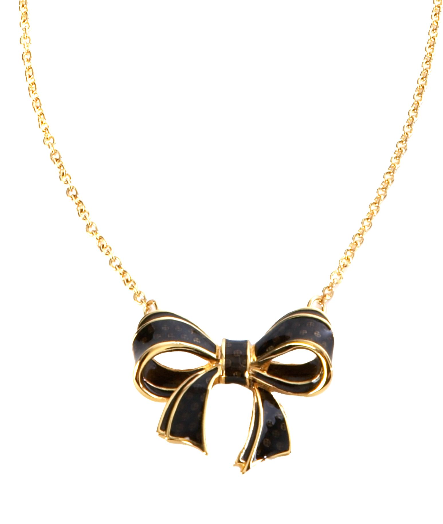 Ted Baker Victori short metal small bow necklace