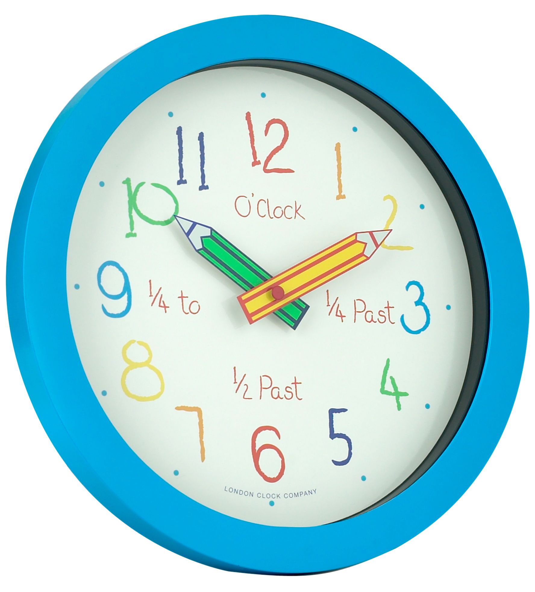 London Clock Blue Pencil Wall Clock Review Compare Prices Buy Online