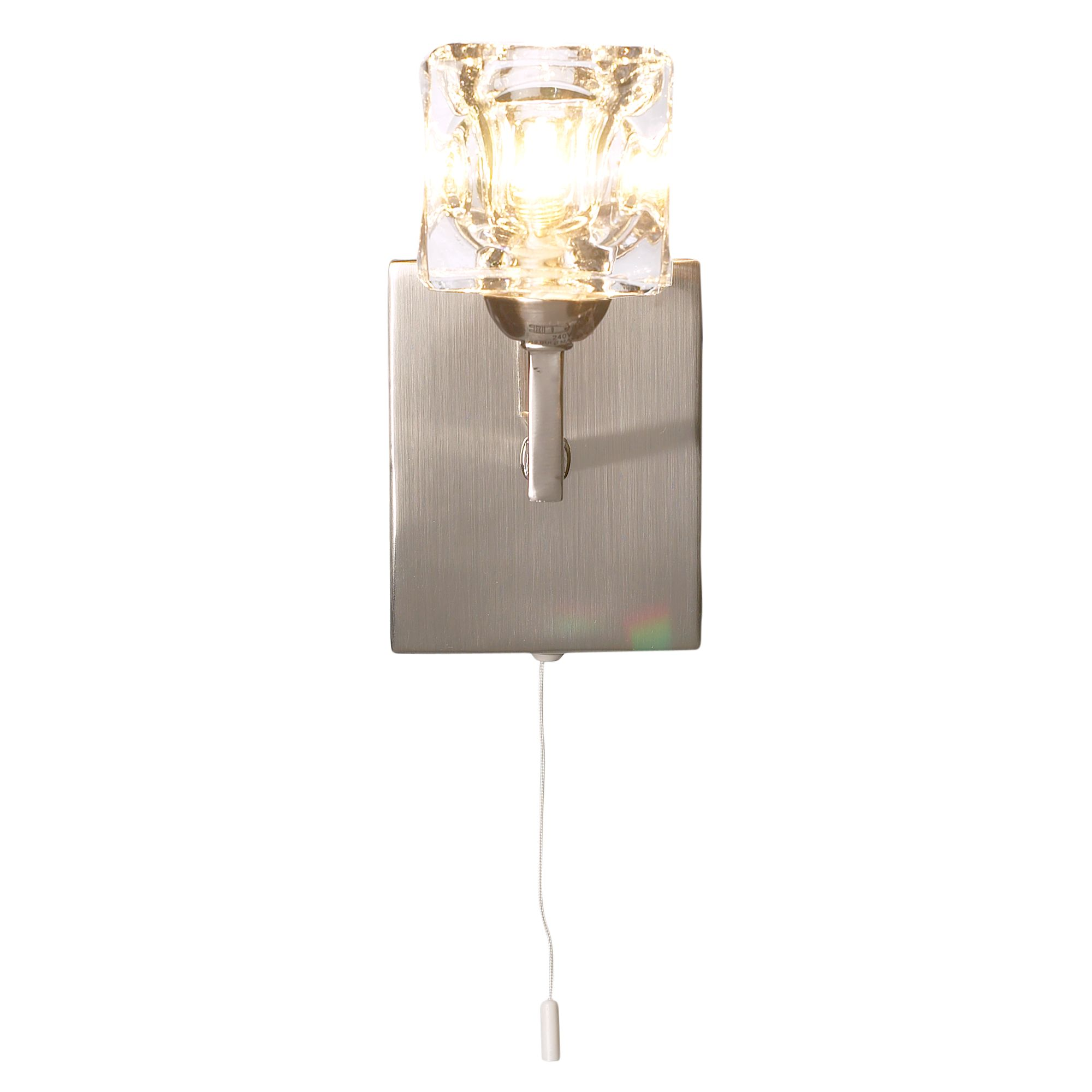 House of Fraser Ice cube 1 light wall light