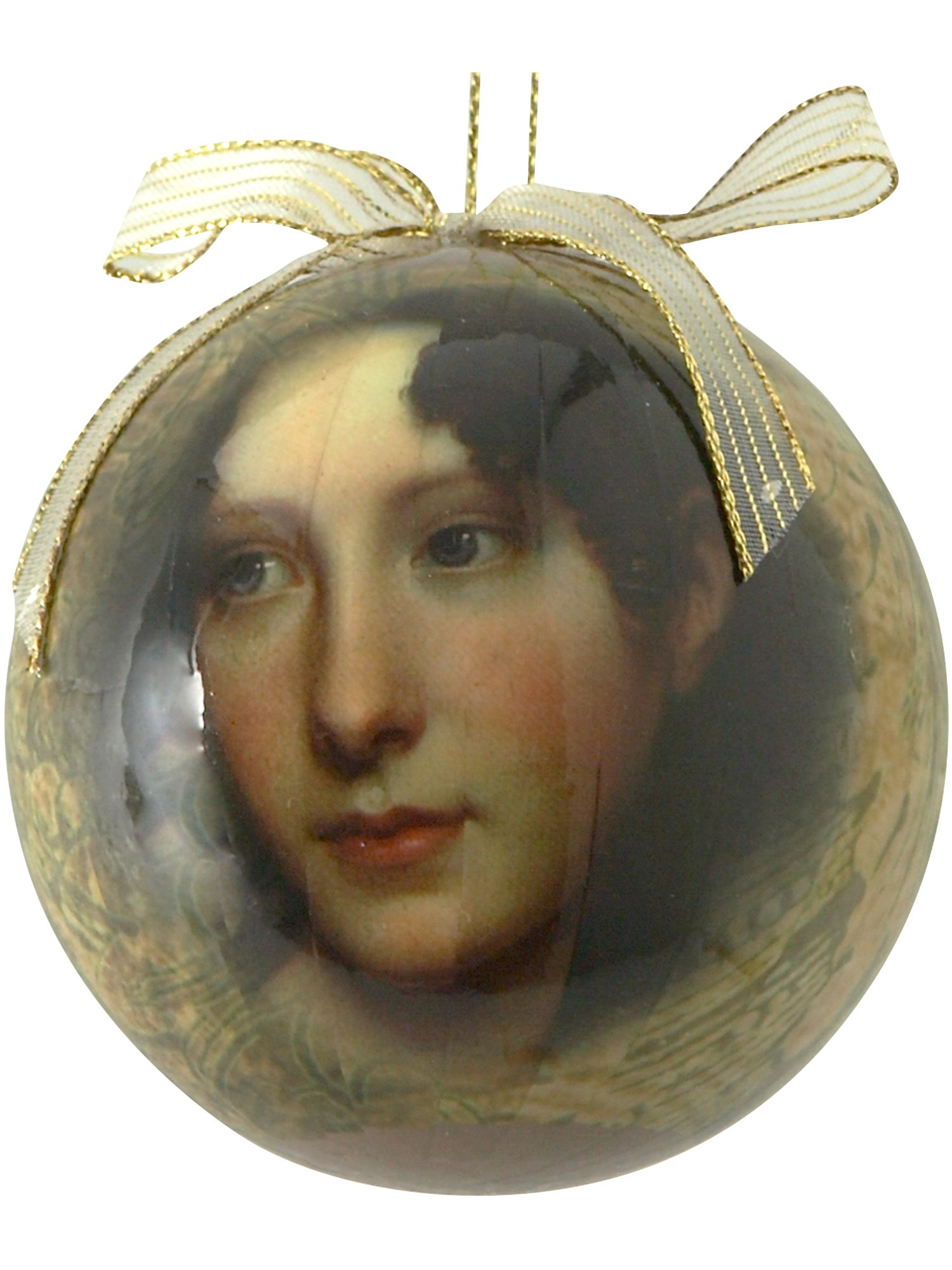 Renaissance ladies face bauble