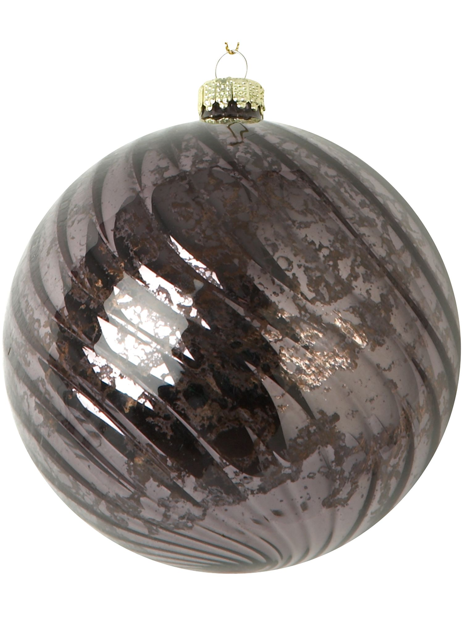 Renaissance black ribbed bauble