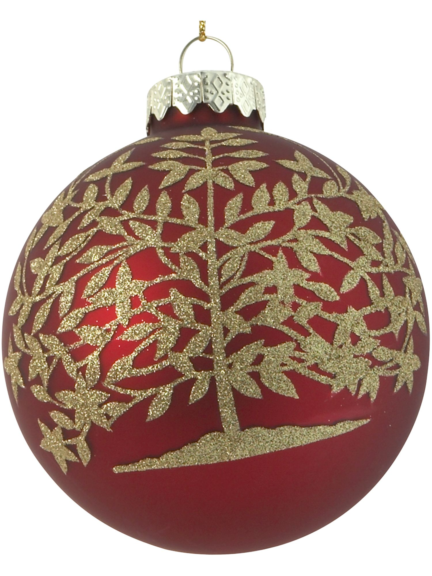 Nostalgia red bauble with gold tree