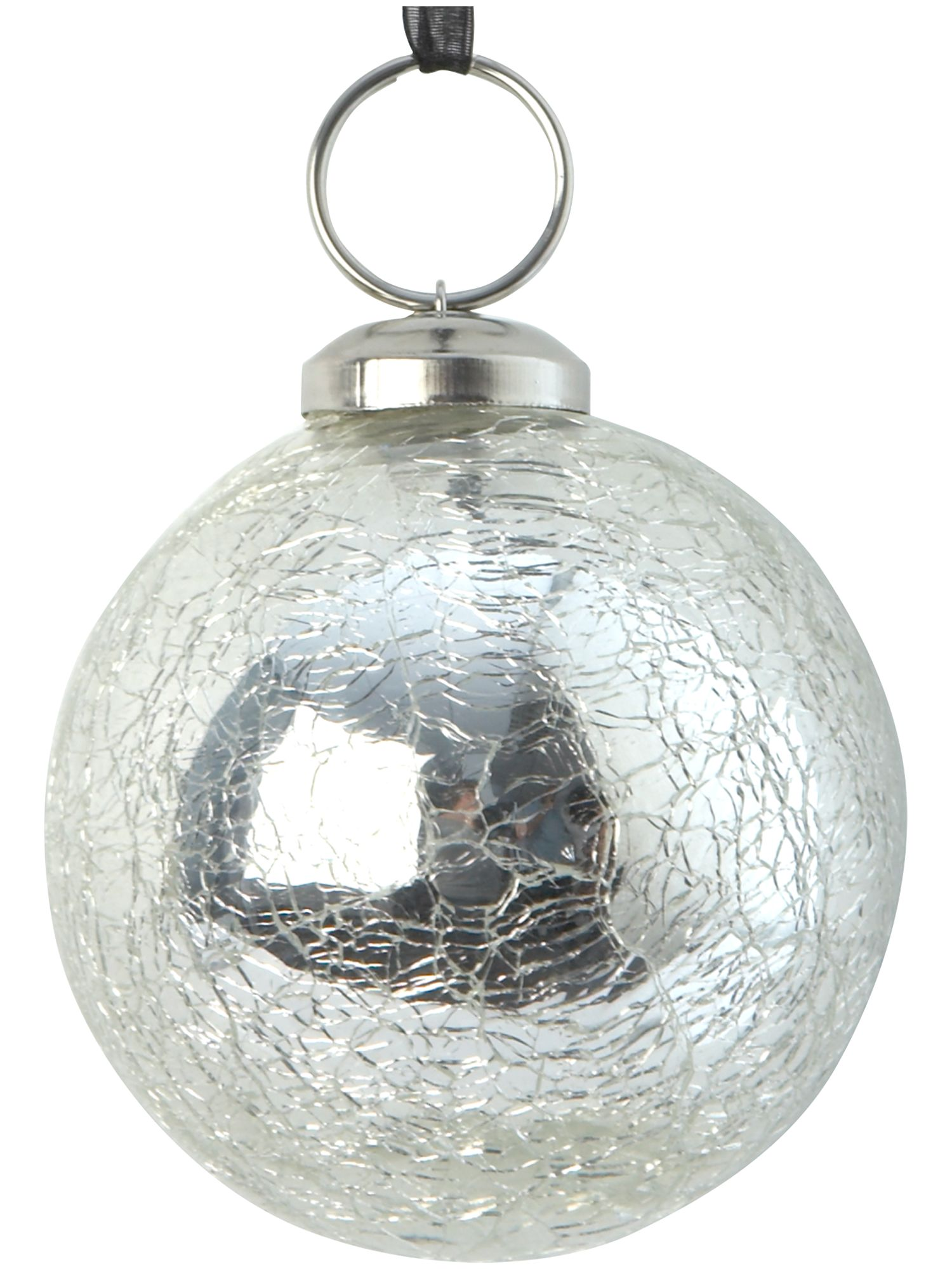 Eclipse silver crackle bauble