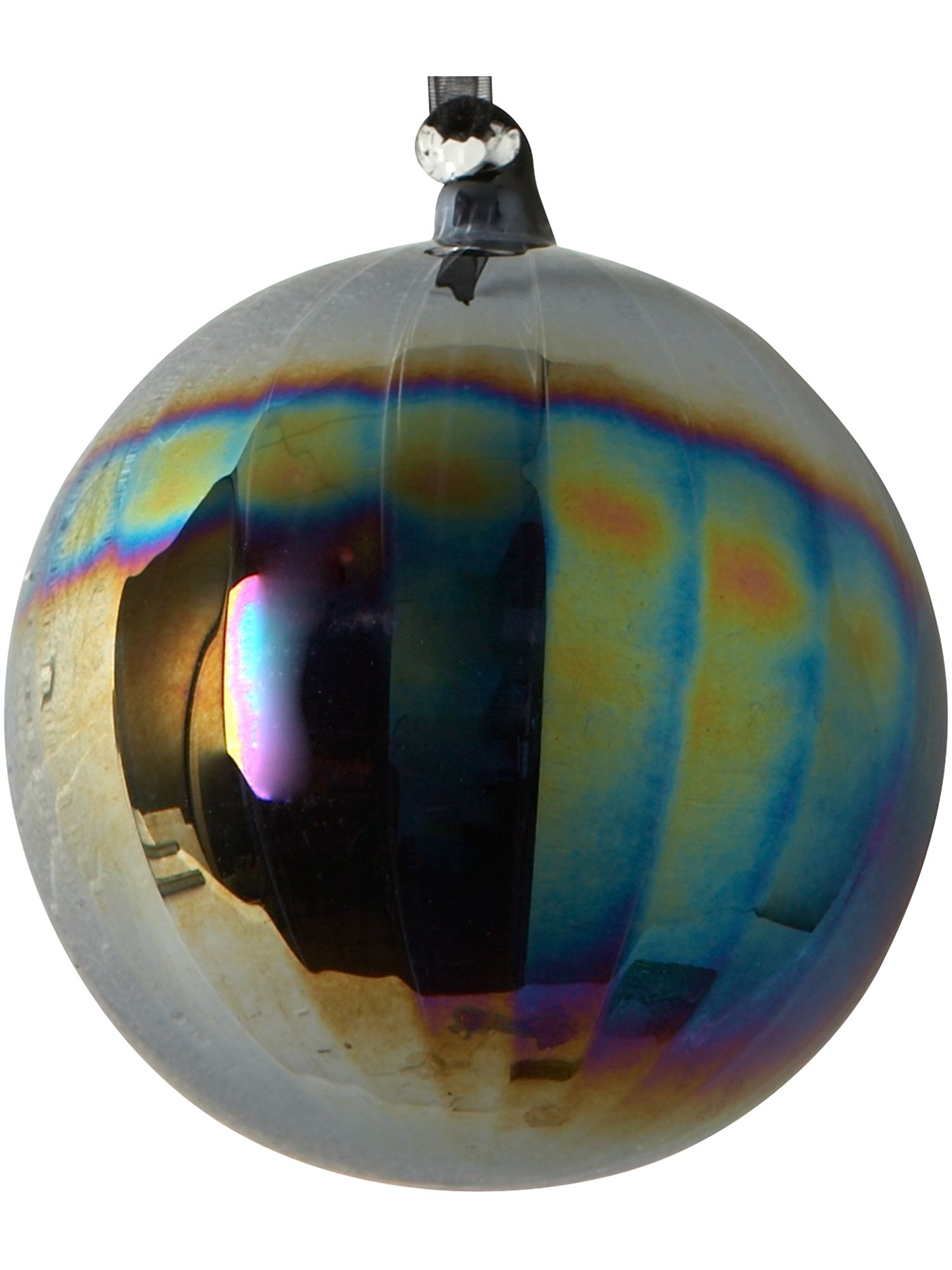 Eclipse bauble with petrol finish
