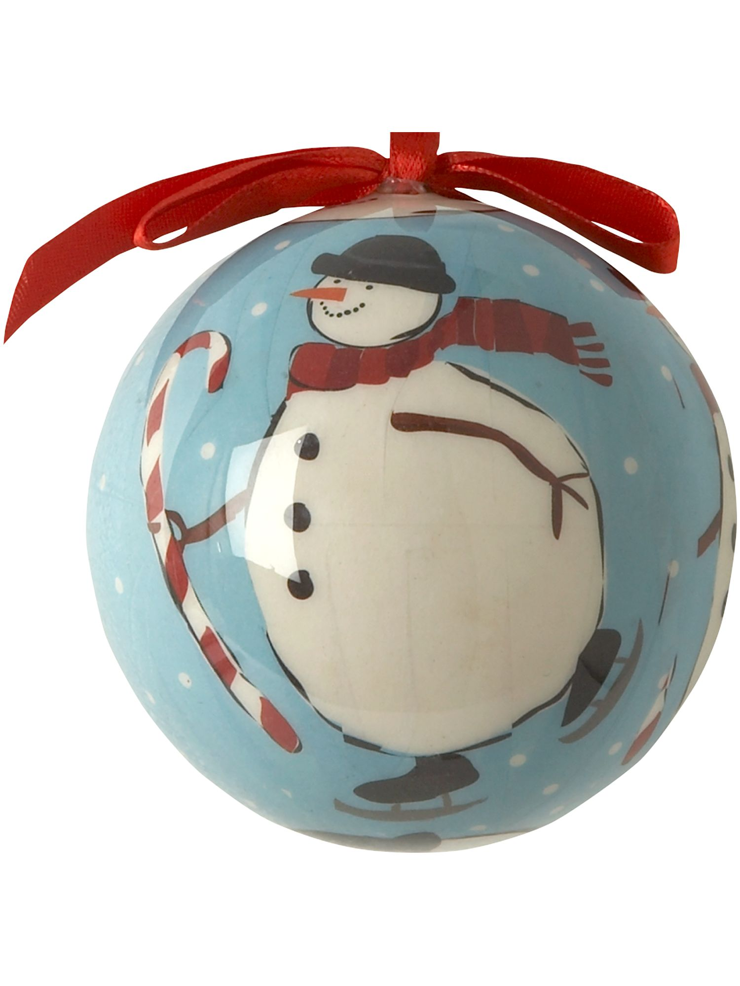 Frosty decoupage bauble
