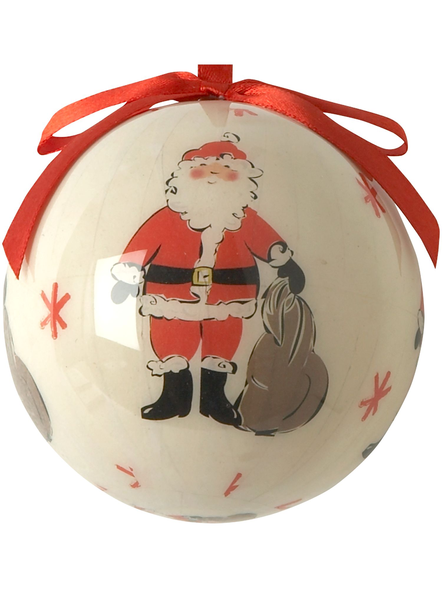 Frosty Santa decoupage bauble