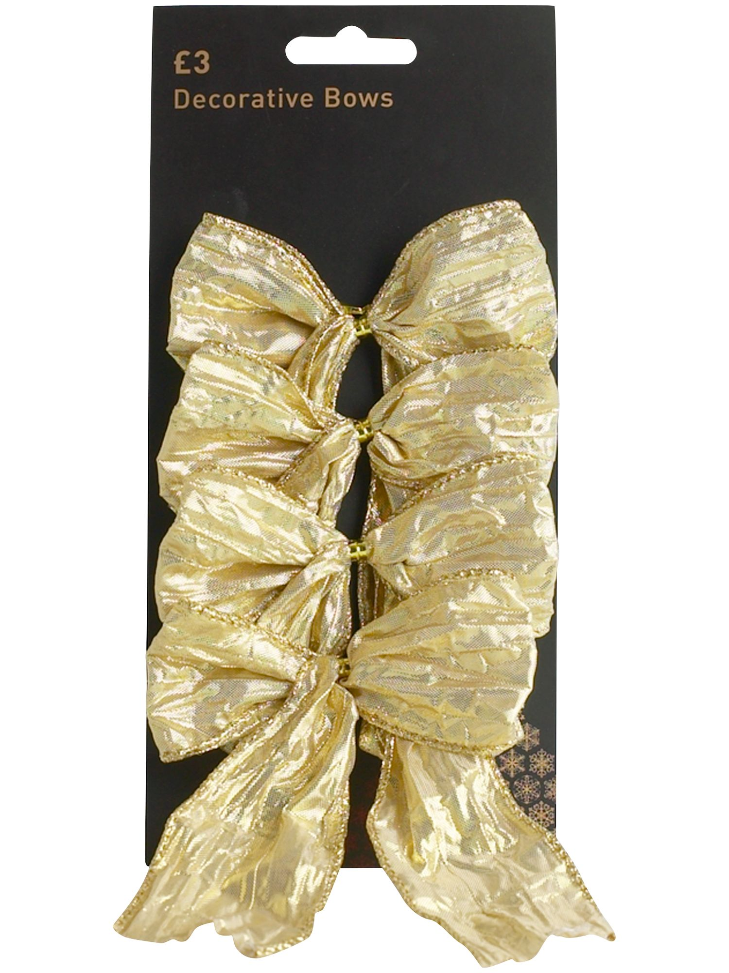 Renaissance set of four gold bows
