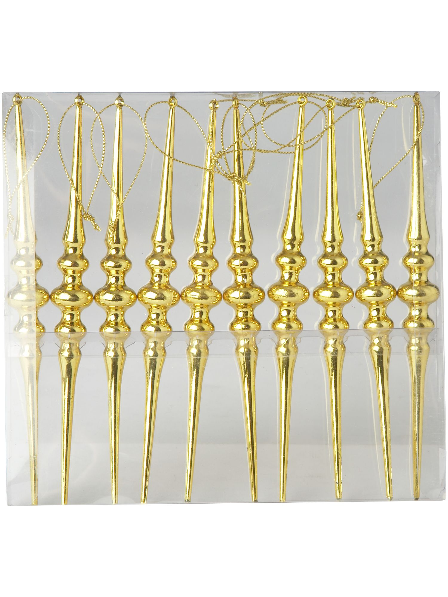 Renaissance set of ten gold finials