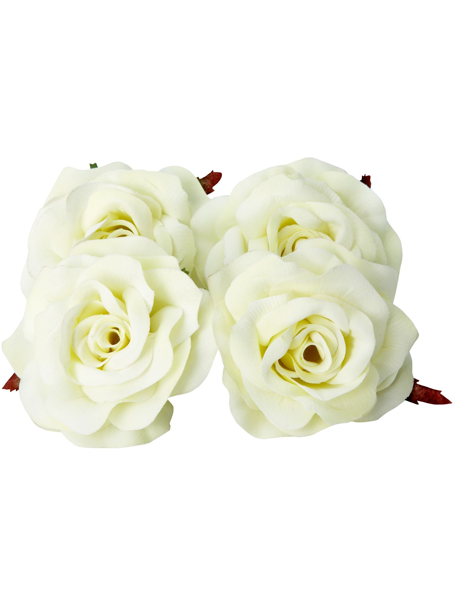 Renaissance set of four cream rose clips