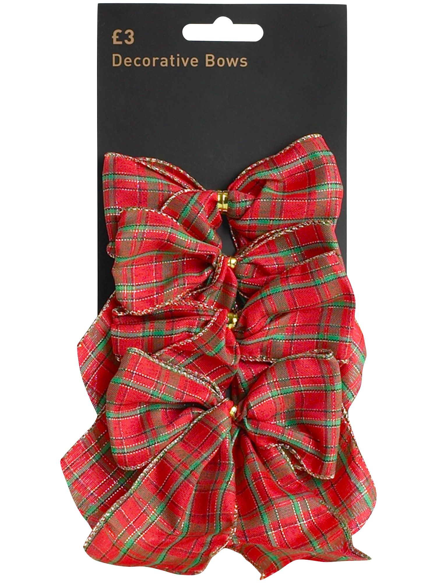 Nostaglia set of four tartan bows