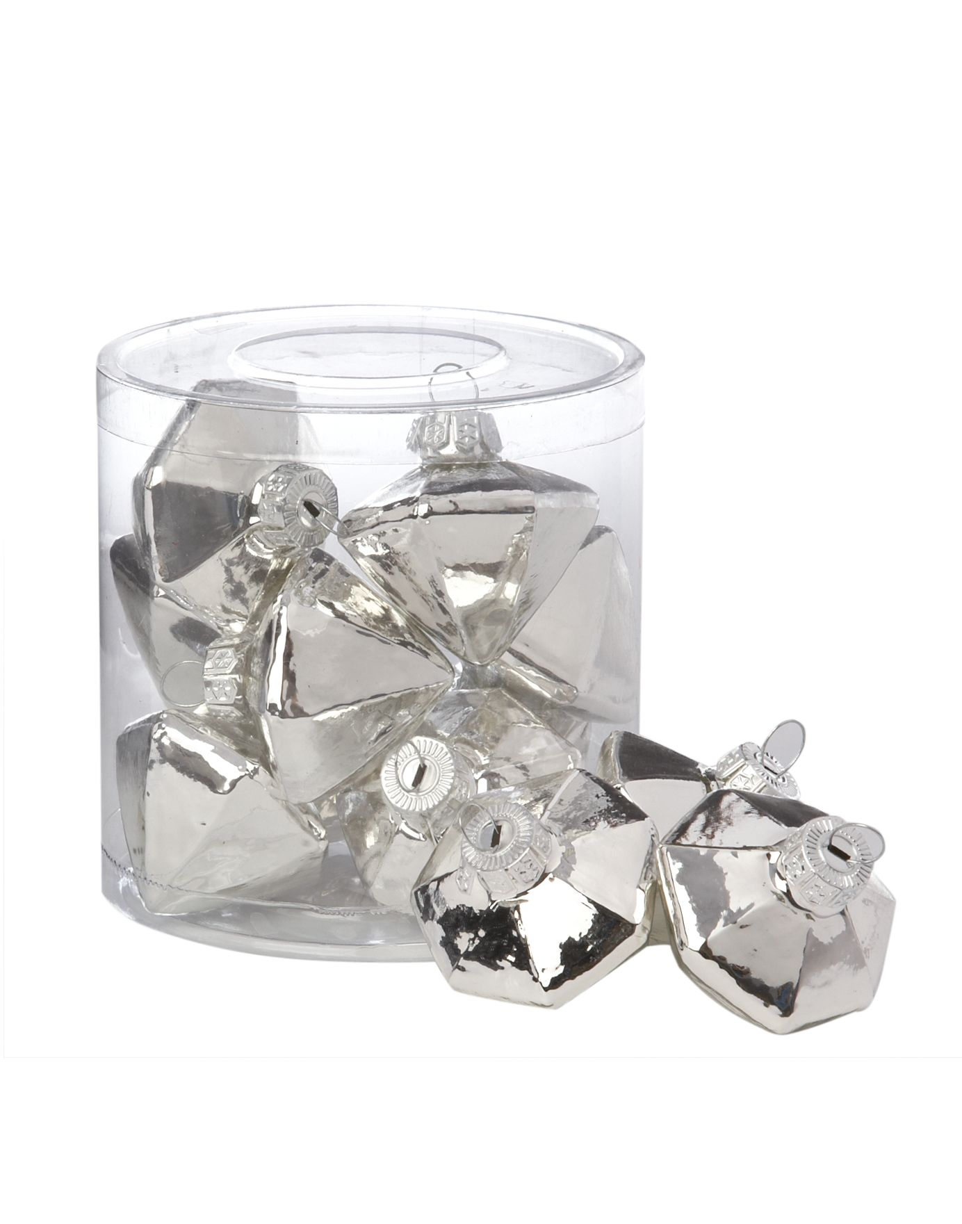 Eclipse 10 glass diamond shape decorations