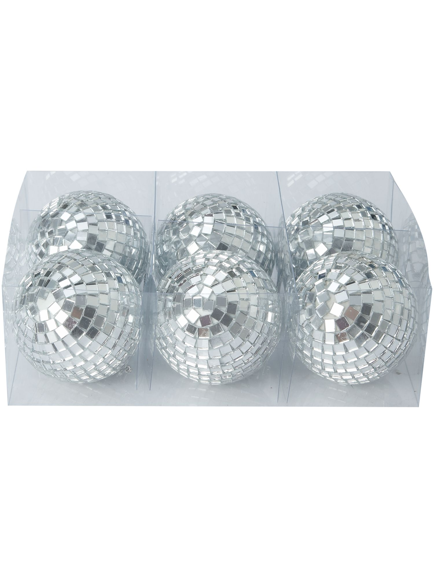 Eclipse set of 6 mirrored ball decorations