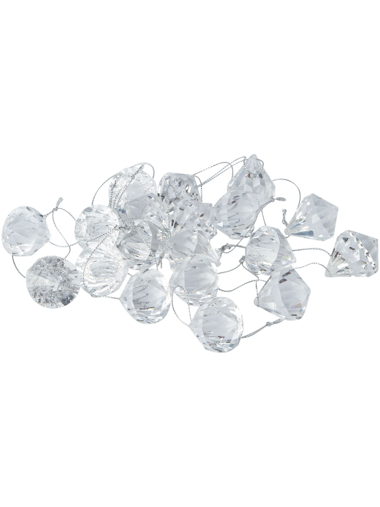 Eclipse 24 clear crystal decorations