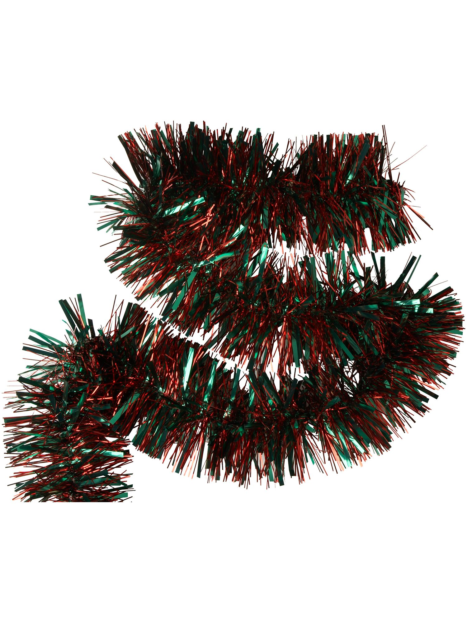 Nostalgia red and green classic tinsel
